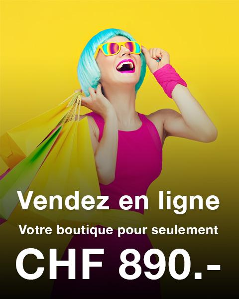 Site e-commerce : CHF 890.-