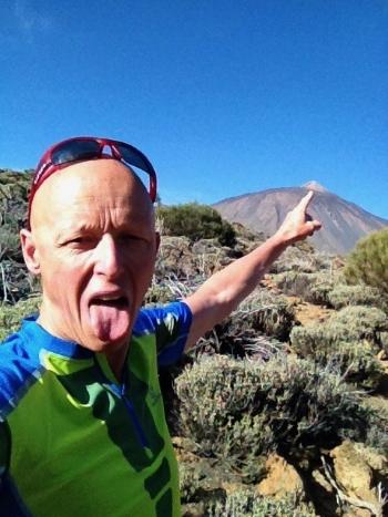 Luc en sortie trail au Teide