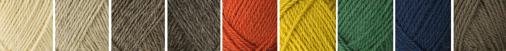 différentes couleurs de pelote de laine