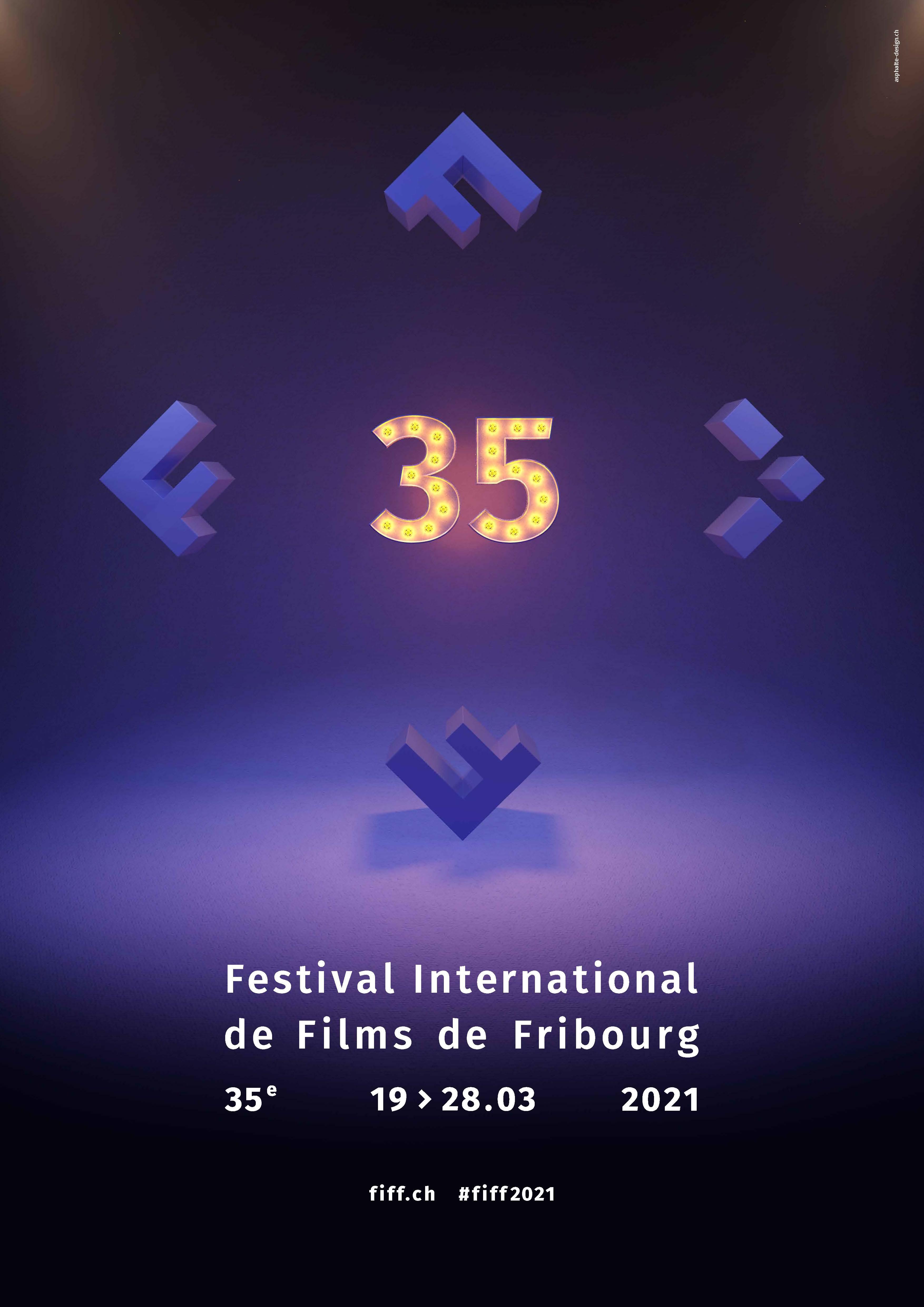 Affiche de la 35e édition du Festival International de Films de Fribourg