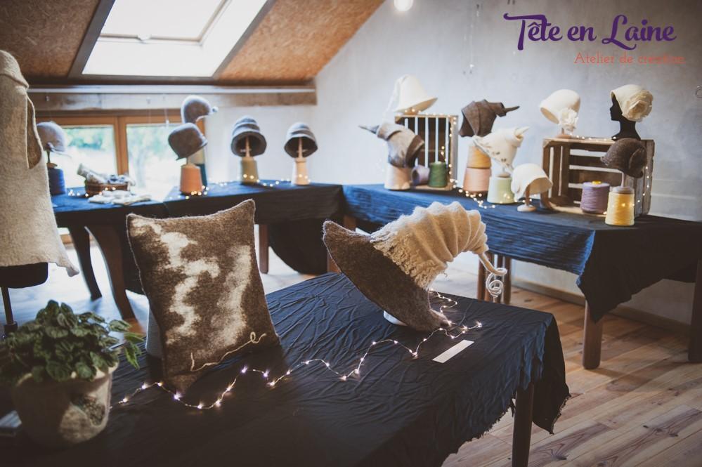 Expo Tête en laine à la Maison des laines de Redu