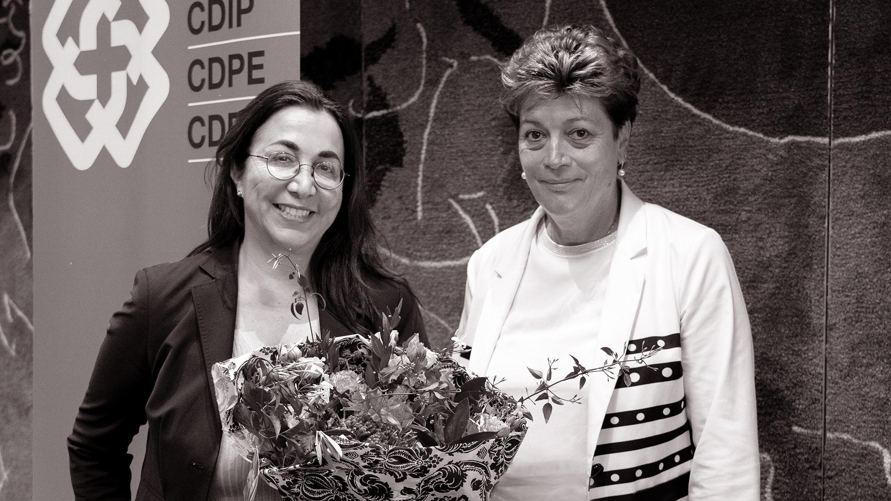 Regierungsrätin Cesla Amarelle mit EDK-Präsidentin Silvia Steiner